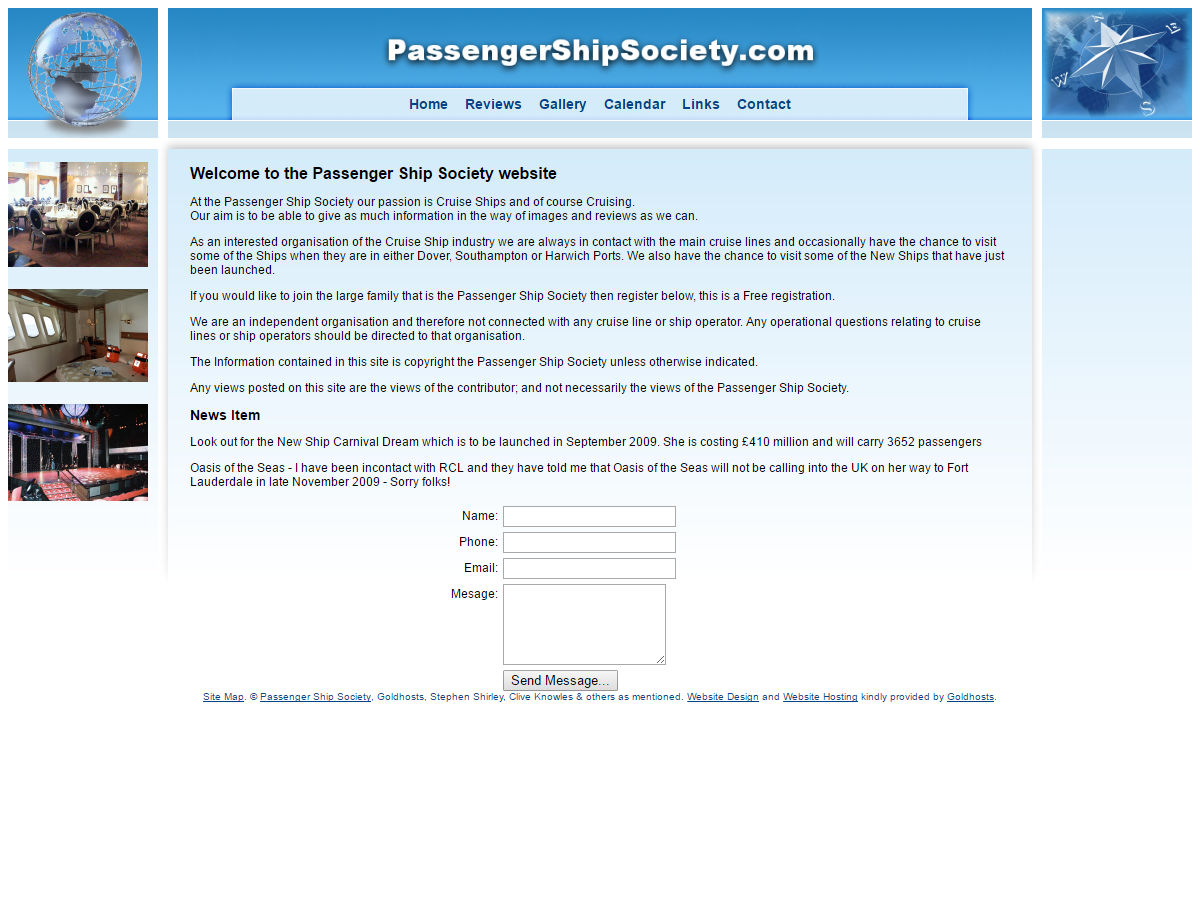 Passengership Society Website Design