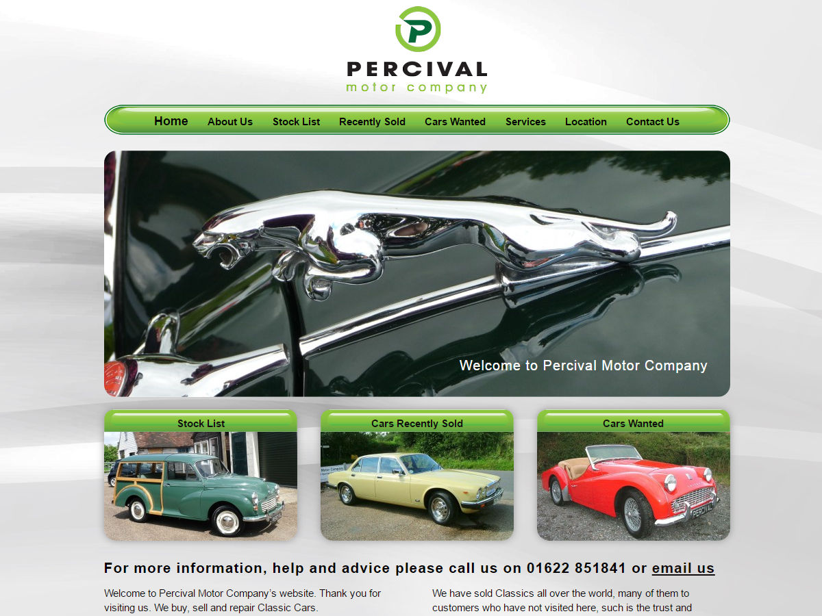 Percival Motor Company Website Design