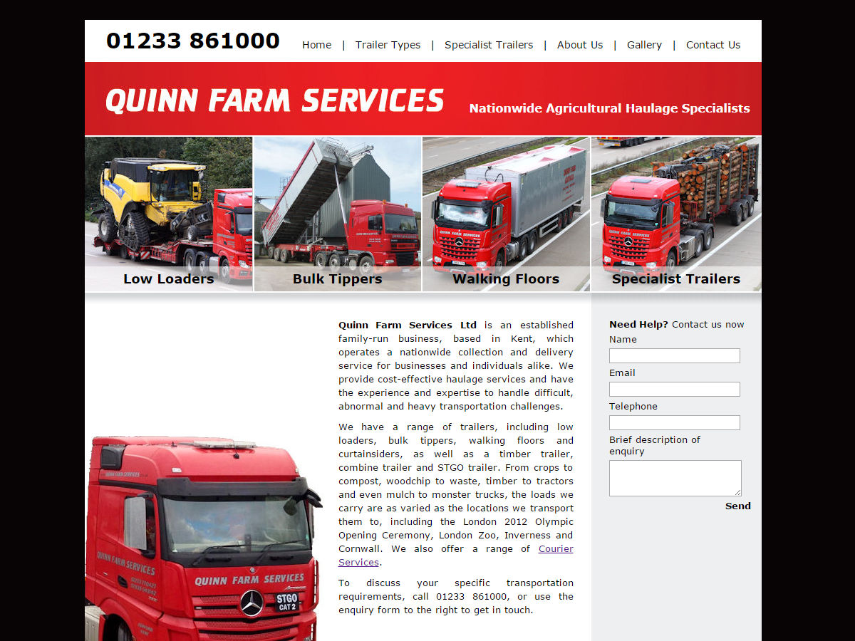 Quinn Farm Services Website Design