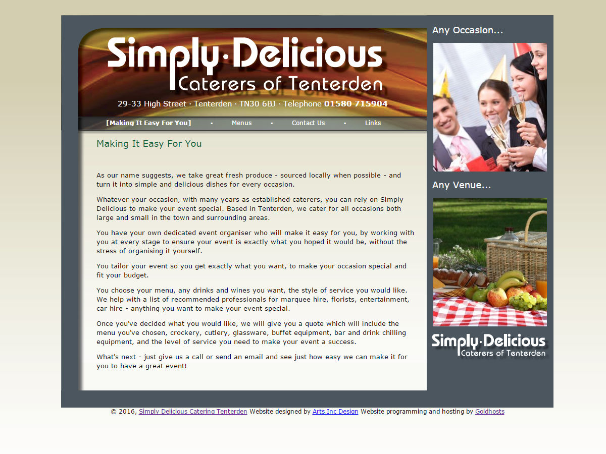 Simply Delicious Website Design