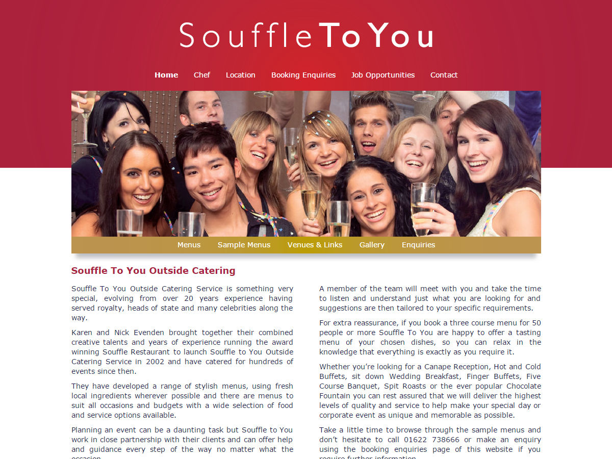 Souffle To You Website Design