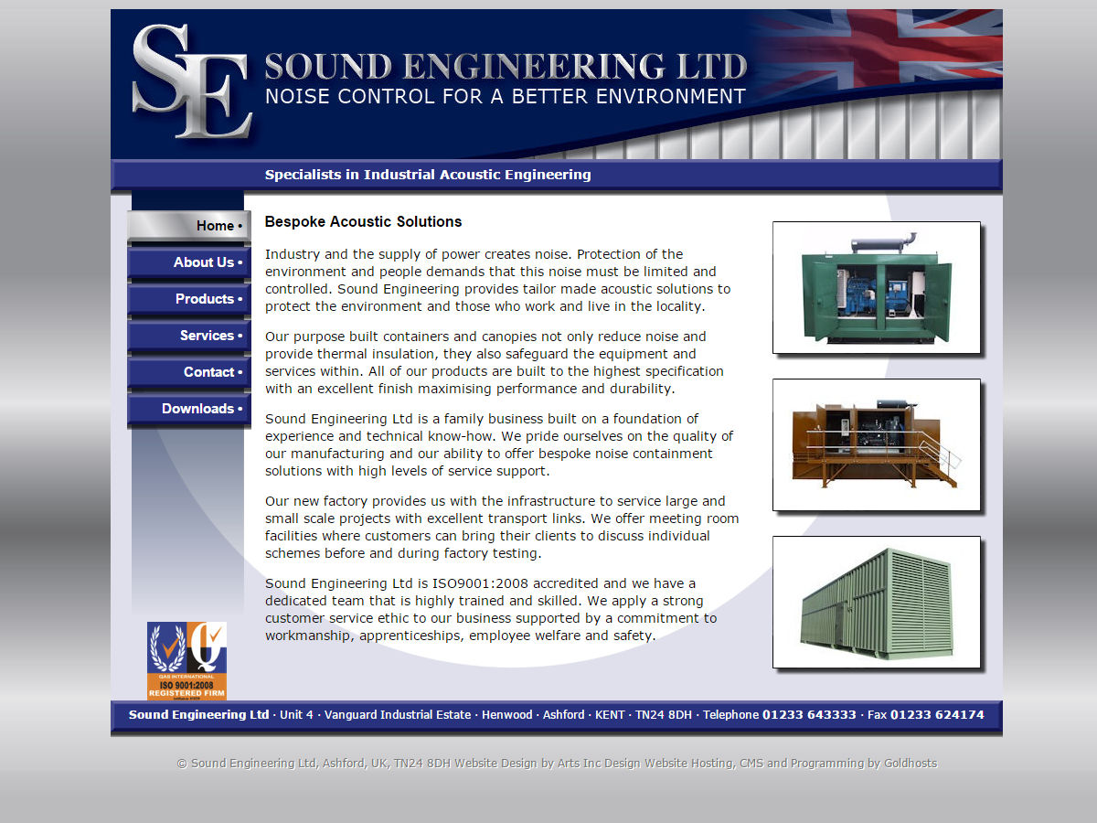 Sound Engineering Website Design