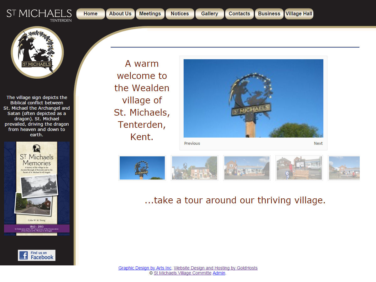 St Micheals Village Website Design