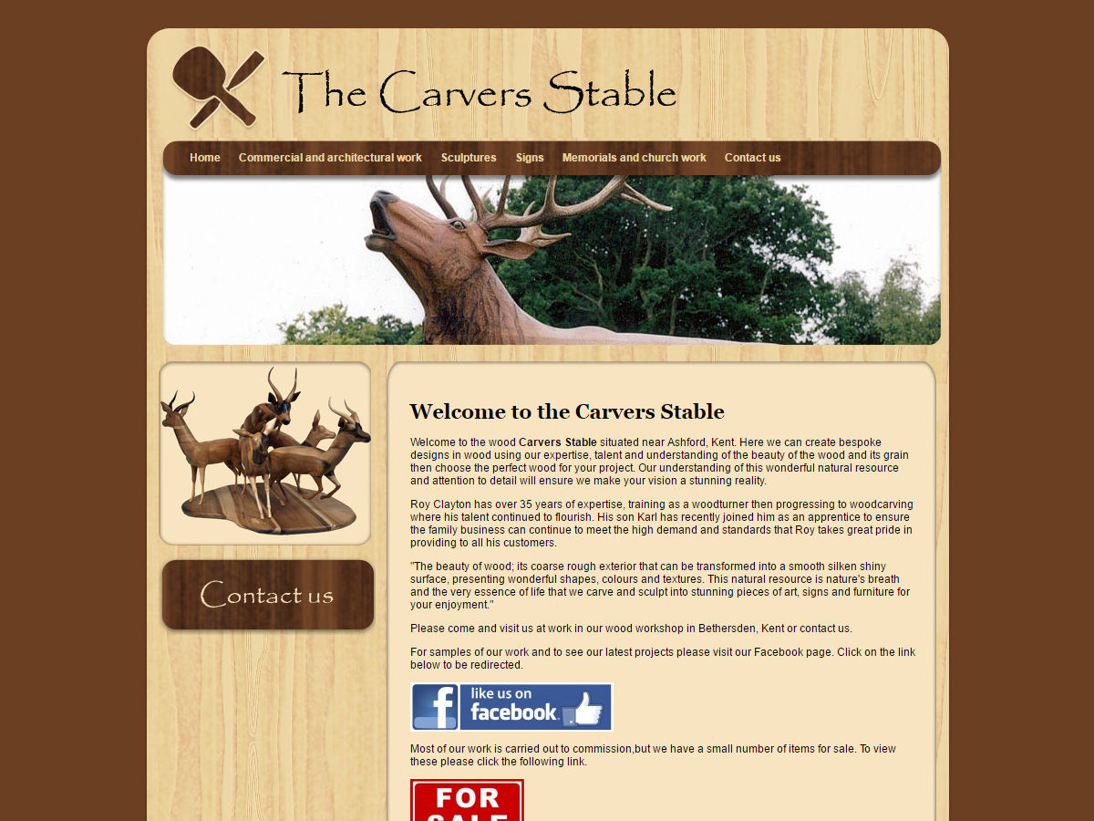The Carvers Stable Website Design
