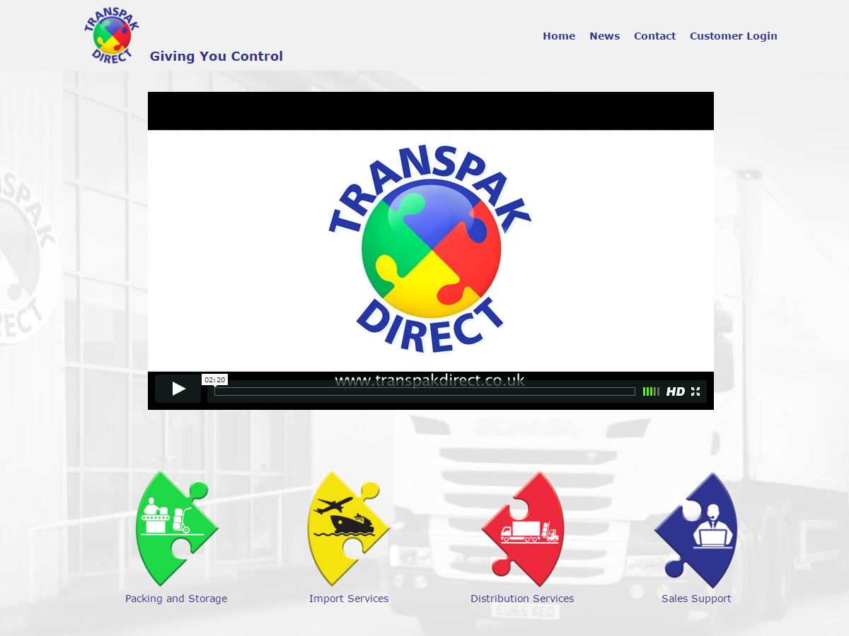 Transpak Direct Website Design