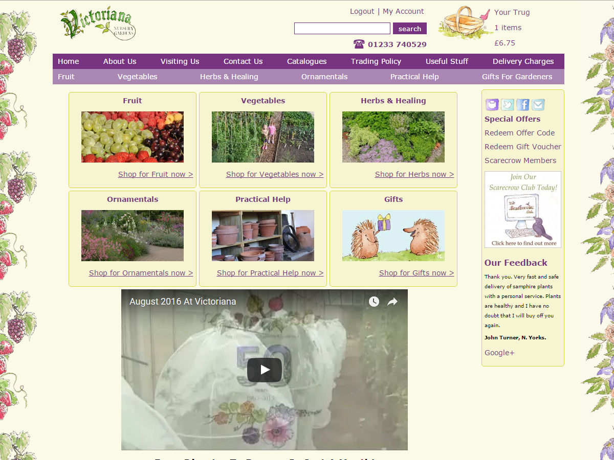 Victoriana Nursery Website Design