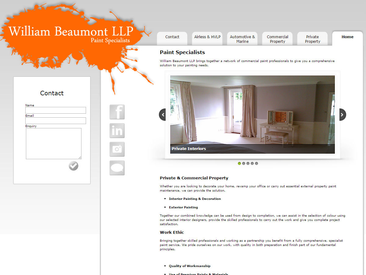 William Beaumont Website Design